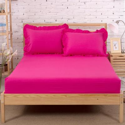 单品床笠类3 缎条单层床笠(床垫套)12 120cmx200cm 玫红