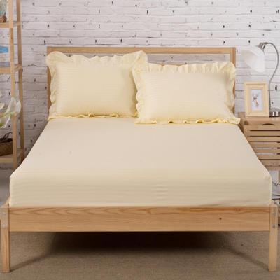单品床笠类3 缎条单层床笠(床垫套)12 120cmx200cm 米黄
