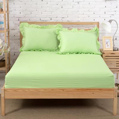 单品床笠类3 缎条单层床笠(床垫套)12 120cmx200cm 浅绿