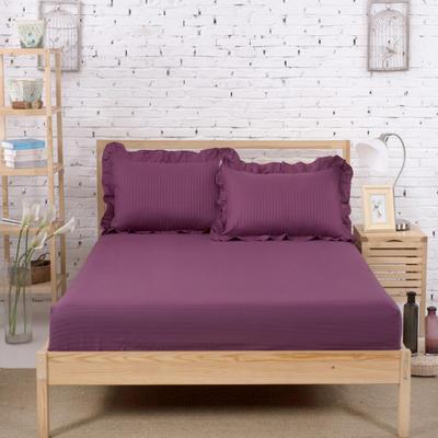 单品床笠类3 缎条单层床笠(床垫套)12 120cmx200cm 深紫