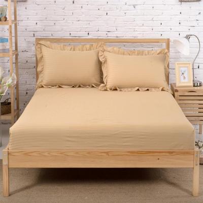 单品床笠类3 缎条单层床笠(床垫套)12 120cmx200cm 驼色