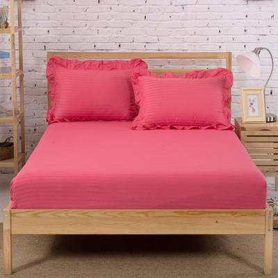单品床笠类3 缎条单层床笠(床垫套)12 120cmx200cm 砖红