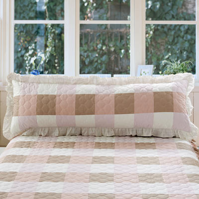 单品枕套类10  全棉夹棉长枕 45cmX120cm 宜家格咖