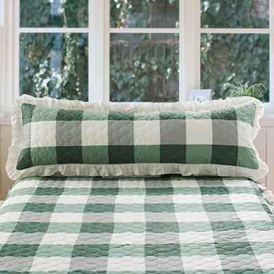 单品枕套类10  全棉夹棉长枕 45cmX120cm 宜家格绿