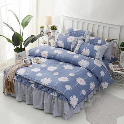 套件2-1:韩式单层床罩/床裙配双针被套四件套41 1.2床 韩花香