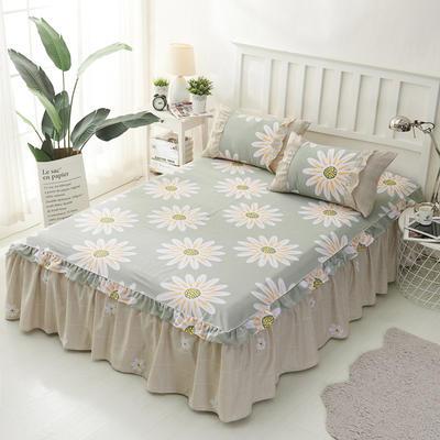 套件2-1:韩式单层床罩/床裙配双针被套四件套41 1.2床 韩花叶
