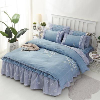 套件2-1:韩式单层床罩/床裙配双针被套四件套41 1.2床 韩星宇