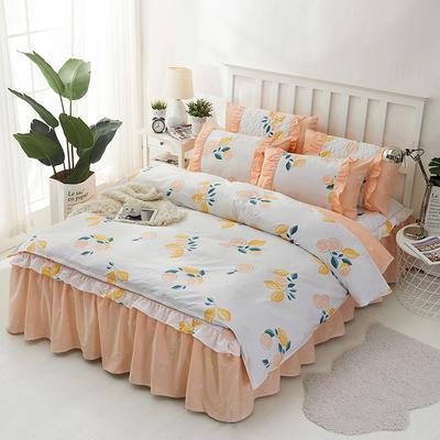 套件2-1:韩式单层床罩/床裙配双针被套四件套41 1.2床 韩柚香