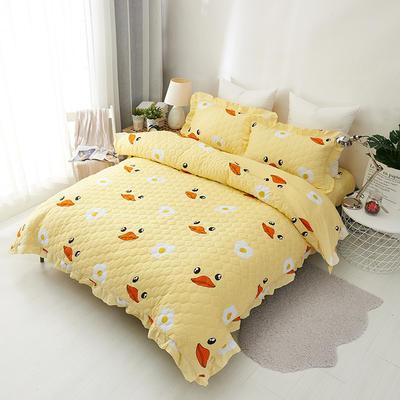 爱妮玖玖 套件14-1 全棉全套夹棉普通款床罩床笠四件套42 床笠1.2米 红嘴鸭