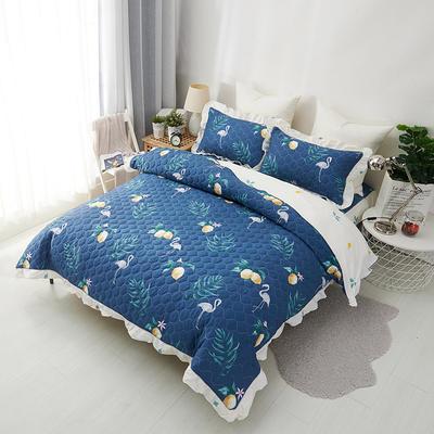 爱妮玖玖 套件14-1 全棉全套夹棉普通款床罩床笠四件套42 床笠1.2米 绿野仙踪