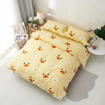 套件19 全棉小清新多规格床单四件套46 小四件套1.0-1.35床 小黄鸭