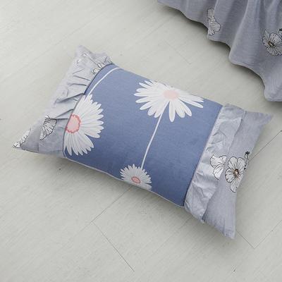单品枕套类1  全棉 韩式单层枕套 45cm*74cm 韩花香