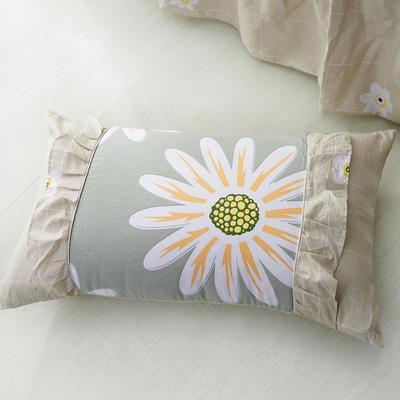 单品枕套类1  全棉 韩式单层枕套 45cm*74cm 韩花叶