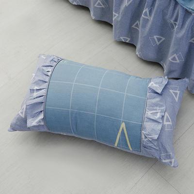 单品枕套类1  全棉 韩式单层枕套 45cm*74cm 韩星宇