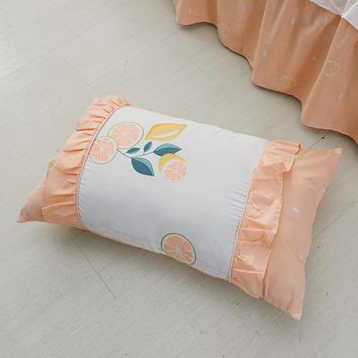 单品枕套类1  全棉 韩式单层枕套 45cm*74cm 韩柚香