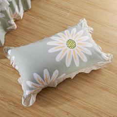 单品枕套类3  全棉普通花边枕 45CMX75CM 花叶