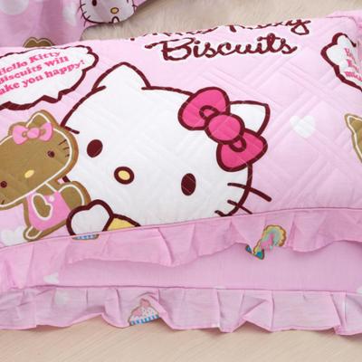 单品枕套类4   全棉普通夹棉枕 45CMX75CM KT猫粉