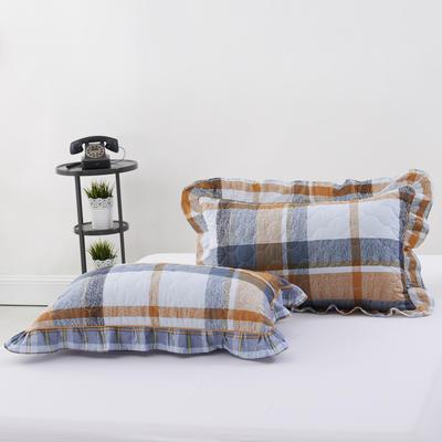 单品枕套类4   全棉普通夹棉枕 45CMX75CM 布鲁斯