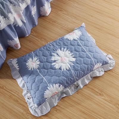 单品枕套类4   全棉普通夹棉枕 45CMX75CM 花香四溢