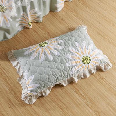单品枕套类4   全棉普通夹棉枕 45CMX75CM 花叶