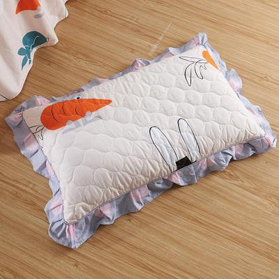 单品枕套类4   全棉普通夹棉枕 45CMX75CM 兔子先生