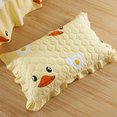 单品枕套类4   全棉普通夹棉枕 45CMX75CM 小黄鸭