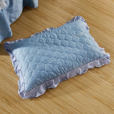 单品枕套类4   全棉普通夹棉枕 45CMX75CM 星宇灰