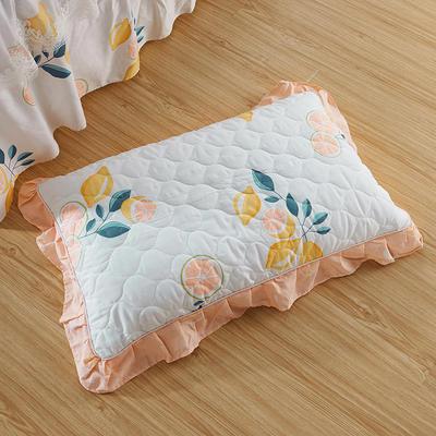 单品枕套类4   全棉普通夹棉枕 45CMX75CM 柚香
