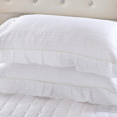 单品枕套类8  全棉缎条纯色夹棉枕 47cmx74cm 白色
