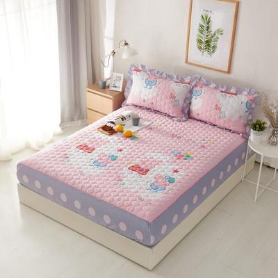 单品床笠类2 印花夹棉床笠(床垫套) 120cmx200cm 佩琪粉