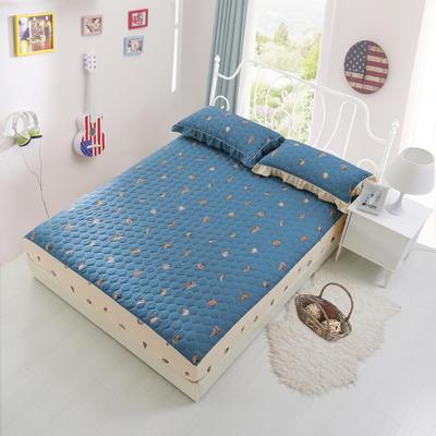 单品床笠类2 印花夹棉床笠(床垫套) 120cmx200cm 海边拾趣