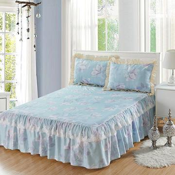 单品床罩类12 蕾丝款单层床罩/床裙 16 120cmx200cm 兰语