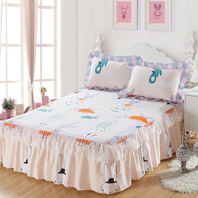 单品床罩类4-1 全棉蕾丝款单层床罩/床裙 16 120cmx200cm 兔子先生