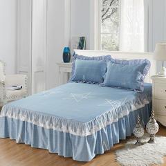 单品床罩类12 蕾丝款单层床罩/床裙 16 180cmx220cm 星宇灰