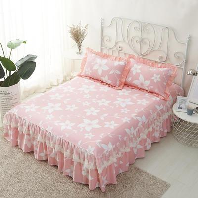 单品床罩类4-1 全棉蕾丝款单层床罩/床裙 16 120cmx200cm 芭莎花语