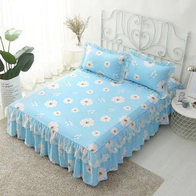 单品床罩类4-1 全棉蕾丝款单层床罩/床裙 16 120cmx200cm 朝花夕拾