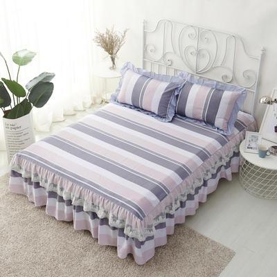 单品床罩类4-1 全棉蕾丝款单层床罩/床裙 16 120cmx200cm 城市情调