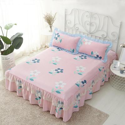 单品床罩类4-1 全棉蕾丝款单层床罩/床裙 16 120cmx200cm 初心