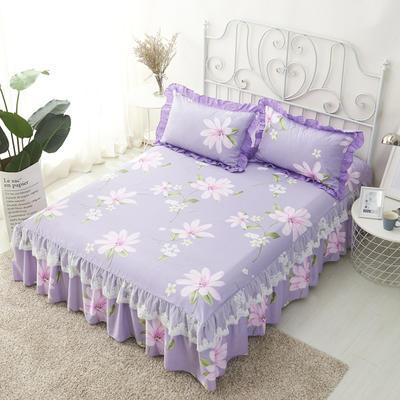 单品床罩类4-1 全棉蕾丝款单层床罩/床裙 16 120cmx200cm 春暖花开