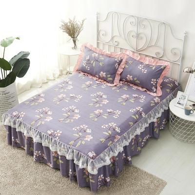 单品床罩类4-1 全棉蕾丝款单层床罩/床裙 16 120cmx200cm 春晓