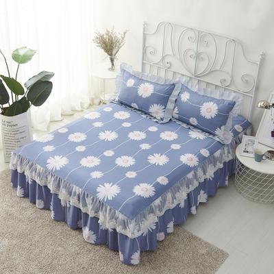 单品床罩类4-1 全棉蕾丝款单层床罩/床裙 16 120cmx200cm 花香四溢