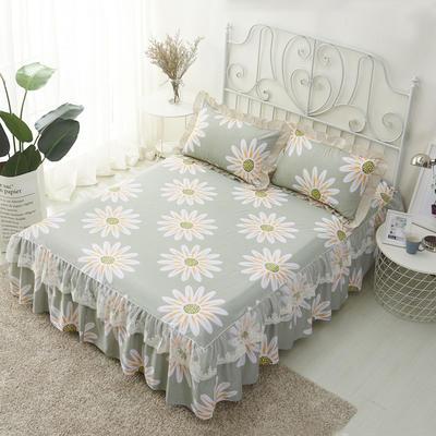 单品床罩类4-1 全棉蕾丝款单层床罩/床裙 16 120cmx200cm 花叶