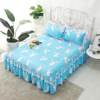 单品床罩类4-1 全棉蕾丝款单层床罩/床裙 16 120cmx200cm 快乐兔
