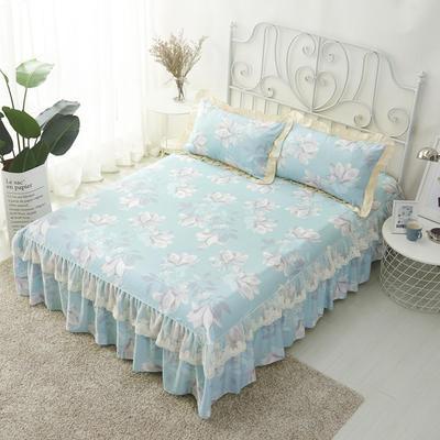 单品床罩类4-1 全棉蕾丝款单层床罩/床裙 16 120cmx200cm 兰语
