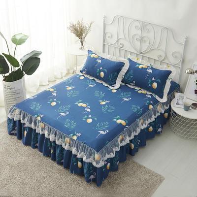 单品床罩类4-1 全棉蕾丝款单层床罩/床裙 16 120cmx200cm 绿意仙境