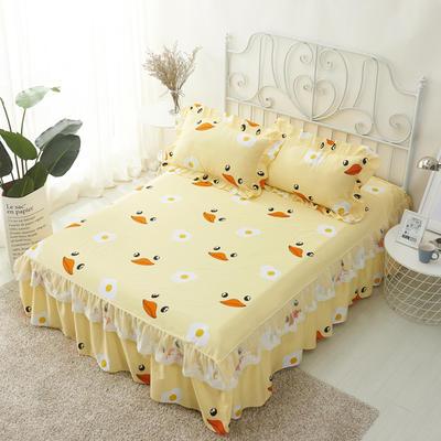 单品床罩类4-1 全棉蕾丝款单层床罩/床裙 16 120cmx200cm 小黄鸭