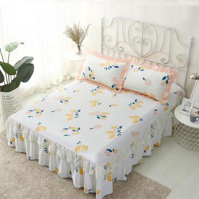 单品床罩类4-1 全棉蕾丝款单层床罩/床裙 16 120cmx200cm 柚香