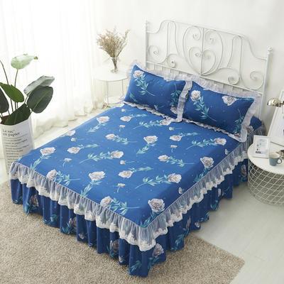 单品床罩类4-1 全棉蕾丝款单层床罩/床裙 16 120cmx200cm 唯野