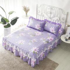 单品床罩类13 蕾丝款夹棉床罩/床裙 16个 150cmx200cm 春暖花开