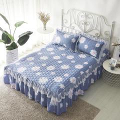 单品床罩类13 蕾丝款夹棉床罩/床裙 16个 150cmx200cm 花香四溢